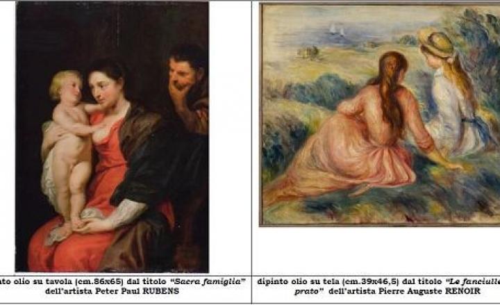 Recuperati un Rubens e un Renoir rubati a Monza