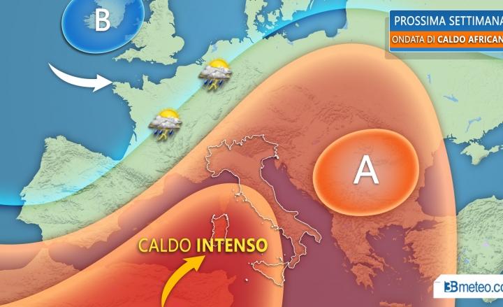 Da domani forte ondata di caldo: temperature sopra i 40 gradi